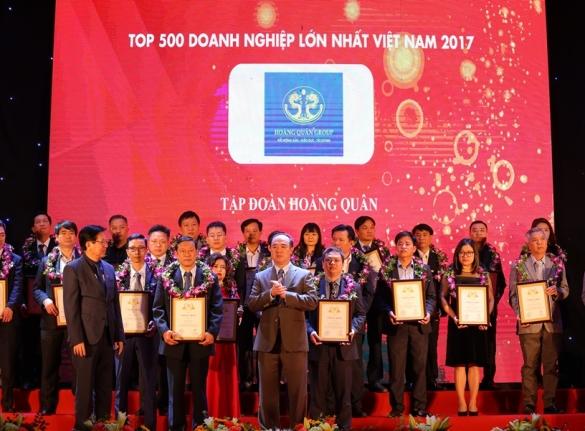 Tập Đoàn Hoàng Quân Vinh Dự Vào Top 500 Doanh Nghiệp Lớn Nhất Việt Nam Năm 2017