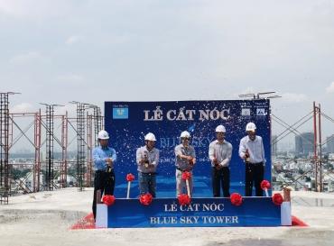 Chính Thức Cất Nóc, Hoàn Thành Toàn Bộ Phần Thô Dự Án Blue Sky Tower