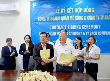 Hoàng Quân Mê Kông Ký Kết Hợp Đồng Cho Công Ty Tỷ Bách Thuê Lại 18,2ha Đất Tại KCN Bình Minh – Vĩnh Long