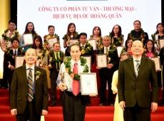 TẬP ĐOÀN HOÀNG QUÂN NHẬN DANH HIỆU TOP 10 THƯƠNG HIỆU DẪN ĐẦU VIỆT NAM 2017 – VIETNAM LEADING BRANDS 2017