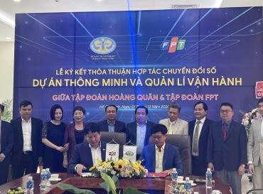 Tập Đoàn Hoàng Quân ký kết hợp tác chuyển đổi số với tập đoàn FPT