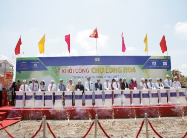THE GROUND BREAKING CEREMONY OF LONG HOA SHOPPING CENTER – TAY NINH